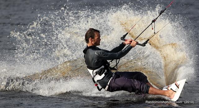 Kite surfing, Achill, Oct 2,2010