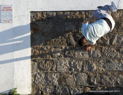 Photo of street jumper or parkour
