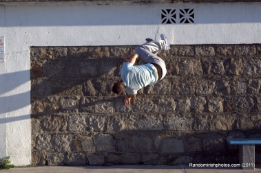 Photo of a street jumper on East Pier, Dun Laoghaire