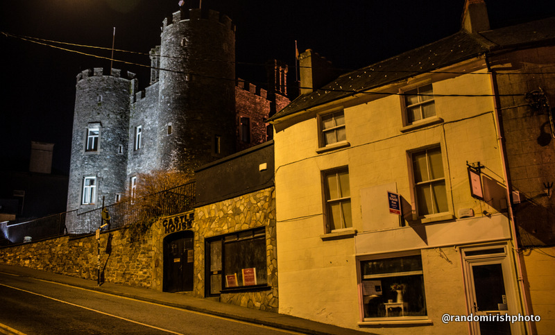Enniscorthy at night.