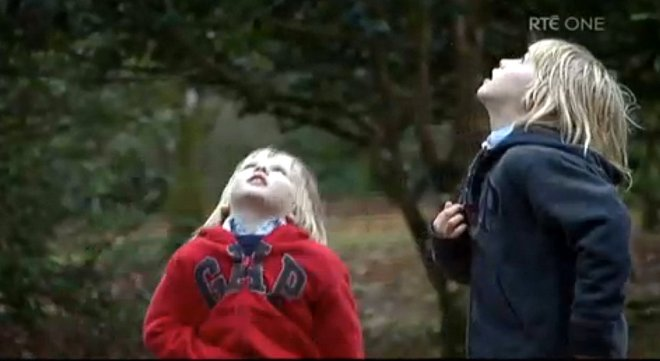 Screen grab of two of Roisin and Mark Molloy's four sons. as featured on RTE.com Prime Time programme.