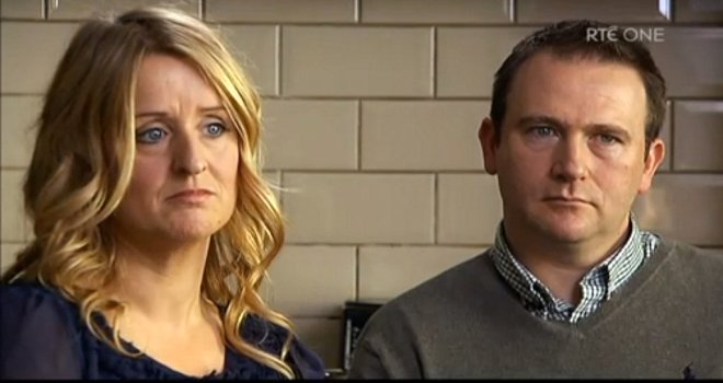 Roisin and Mark Molloy, parents of baby boy who died in Portlaoise Hospital
